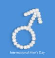 international mens day background vector image