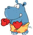 Little hippo boxer Cartoon vector image