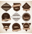 Set of premium quality best choice and guaranteed vector image