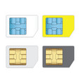sim cards for mobile phones isolated on white vector image
