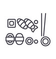 sushi mix line icon sign on vector image