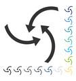 swirl arrows icon vector image