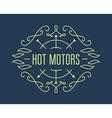 Vintage motorcycle labels badges or design vector image