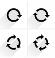 Black arrow loop refresh reload rotation icon vector image