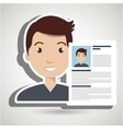 cv resume man icon vector image