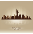 New York skyline city silhouette vector image