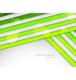 Background with green stripes vector image vector image