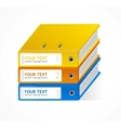 Binders speech templates for text vector image vector image