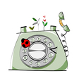 A phone is placed vector image vector image