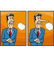 insincere politician cartoon vector image vector image