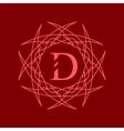 Simple Monogram D vector image