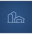 Farm buildings line icon vector image