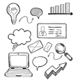 Business Element Drawing Design Flat vector image