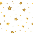 Stars seamless pattern gold white 3D vector image vector image