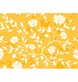Orange seamless floral texture vector image