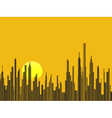 Big city silhouette background vector image