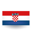 Croatian Flag vector image