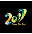 New Year 2017 celebration background with confetti vector image