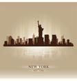New York skyline city silhouette vector image