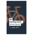 Sports activity bicycle event vector image