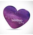 Happy Valentines Watercolor vector image vector image