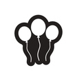 style black and white icon inflatable Balloon vector image