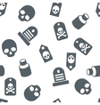 Death Objects Seamless Seamless Flat vector image