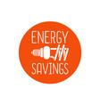 Energy savings logo design vector image