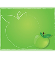 green apple background vector image