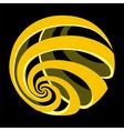 World globe icon on black background vector image