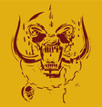 yellow and red skull vector image