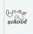 Back to School 3 vector image