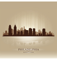 Philadelphia Pennsylvania skyline city silhouette vector image