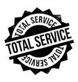 total service rubber stamp vector image