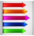 Multicolored arrows stickers vector image