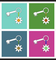 flat icon design collection key and key fob vector image vector image