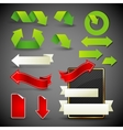 arrow icons symbols and banners design elements vector image