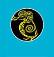 Chameleon Lizard ornament vector image
