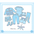 Baby boy clothes vector image vector image