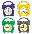 isolated clocks vector image vector image