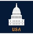 United States Capitol flat symbol vector image