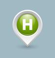 Hospital or heliport pointer vector image