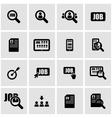 black job search icon set vector image vector image