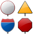 Blank Highway Signs vector image
