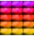 Bright and colorful rectangular bulges vector image