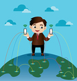 Business man on Social Network vector image