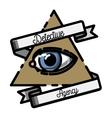 Color vintage detective agency emblem vector image