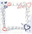 cute hand-drawn doodle frame vector image