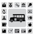 Education icons set eps 10 vector image