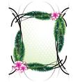 Elegant greeting frame vector image